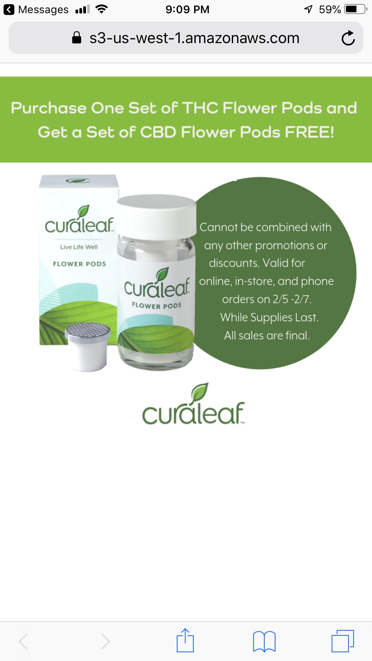 Curaleaf BOGO Flower Pod promo is back! – Medical McCannabis